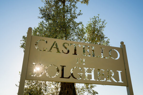 Castello di Bolgheri Winery Sign
