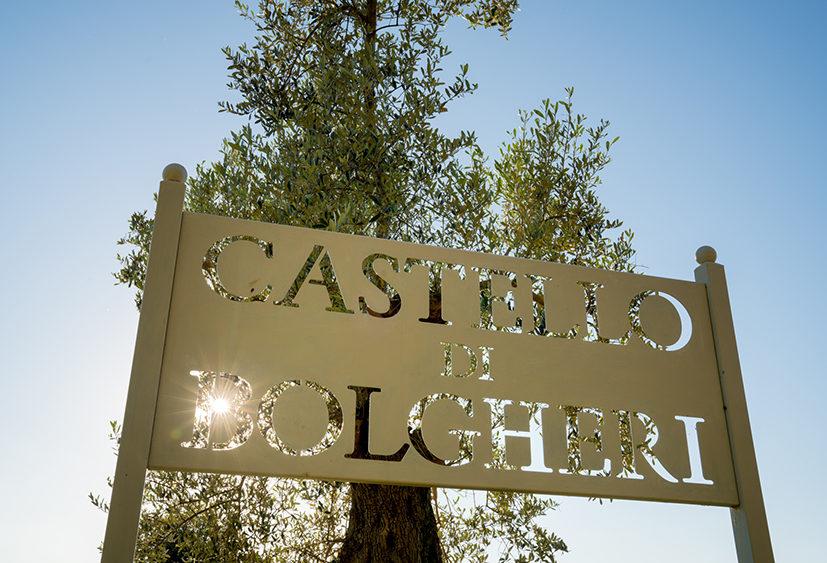 Castello di Bolgheri Winery Sign